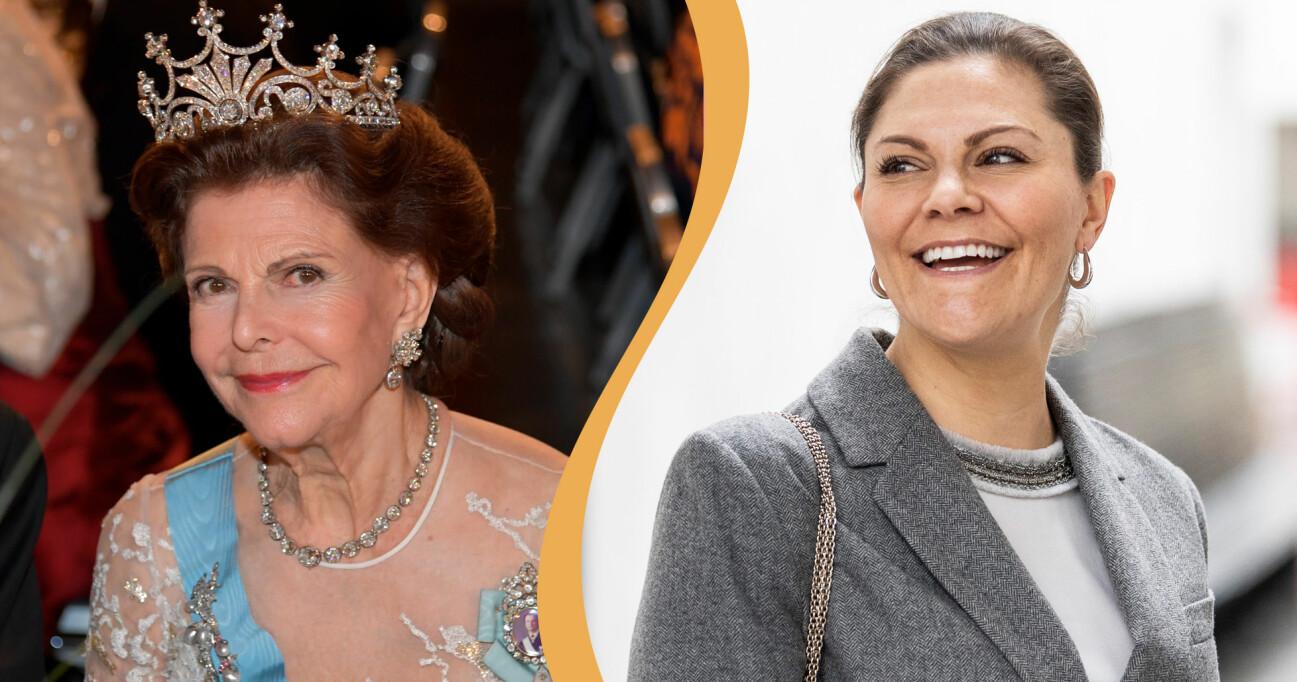 Drottning Silvia och Kronprinsessan Victoria.