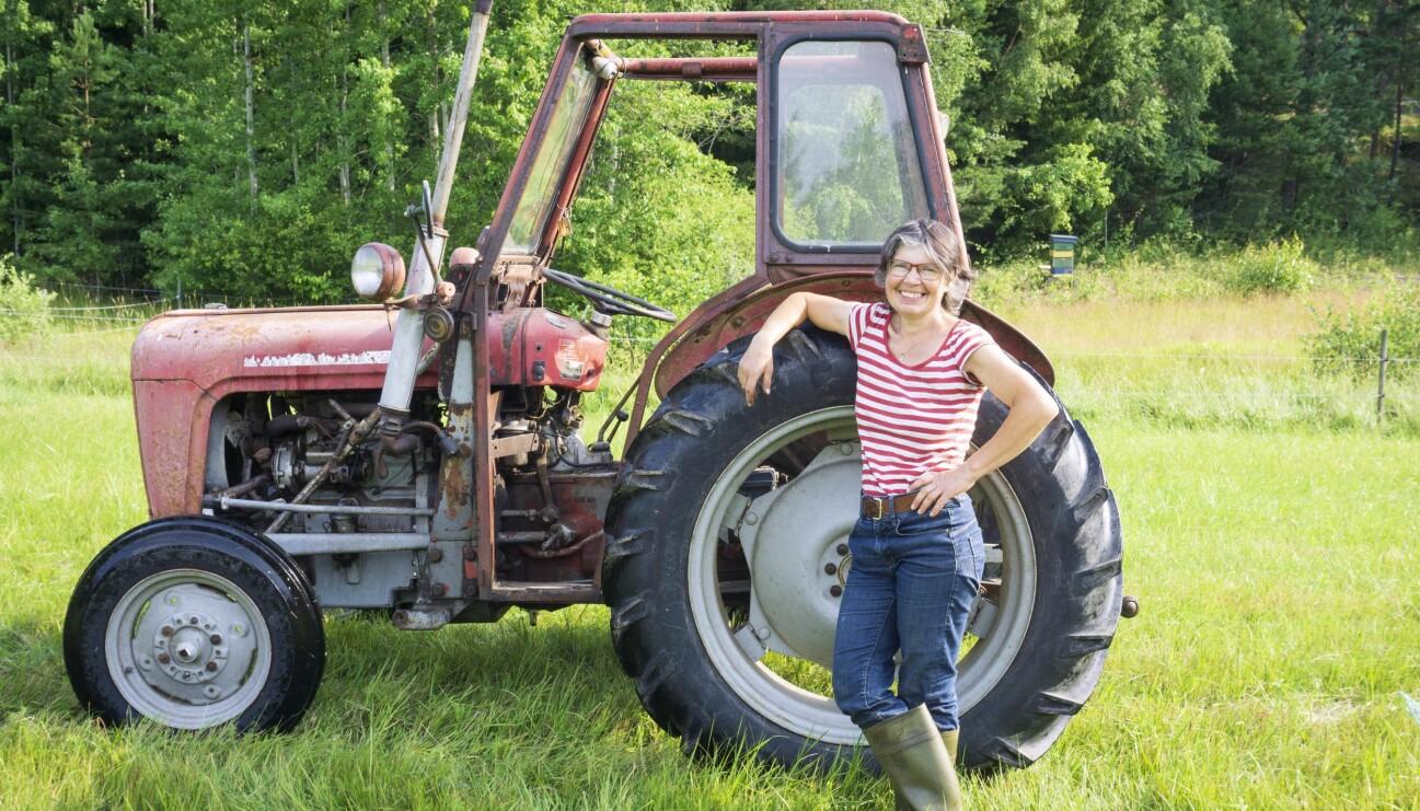 Lantbrukaren Christel Guillet driver permakulturodling på Nygrans gård utanför Nyköping.