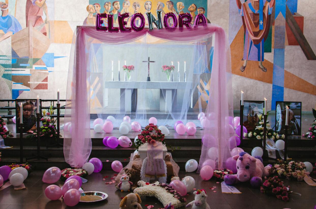 Eleonora Aldins begravning i Malmö 2019.