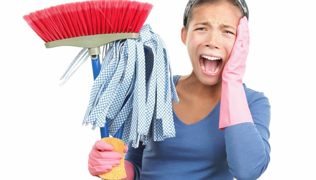 En kvinna som ogillar att städa