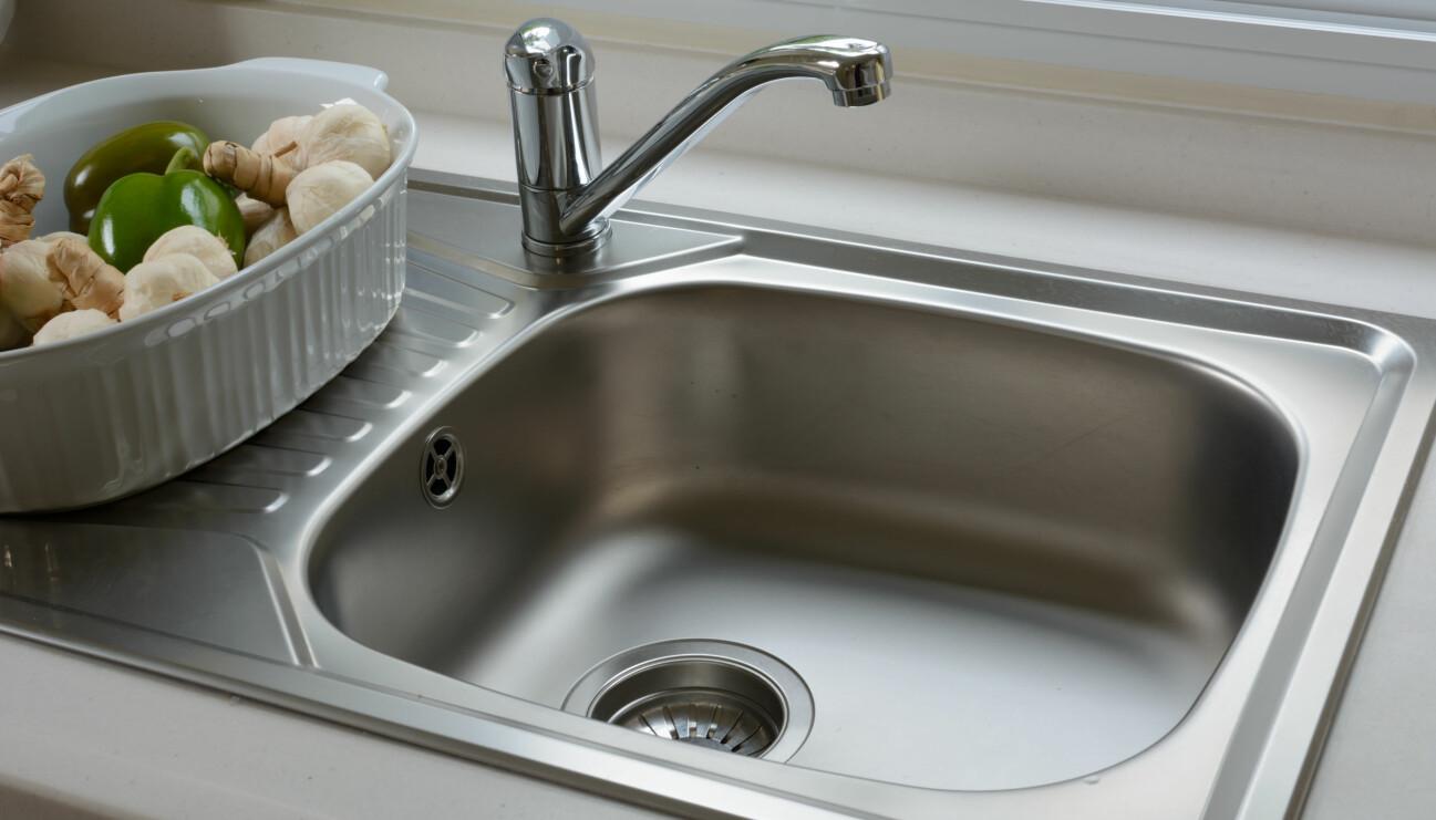 En nystädad vask i köket.