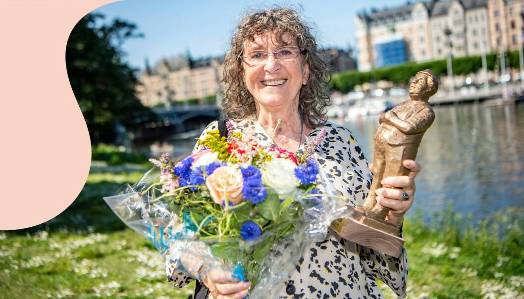 En strålade glad Siw Malmkvist mottar Kvällspostens Edvardpris 2019
