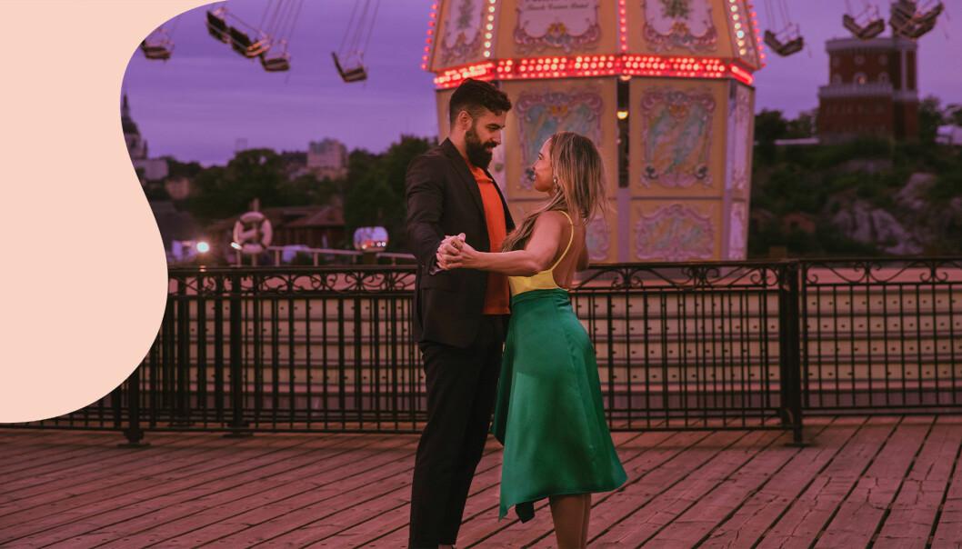 Ett par dansar i TV4-programmet Flirty dancing.