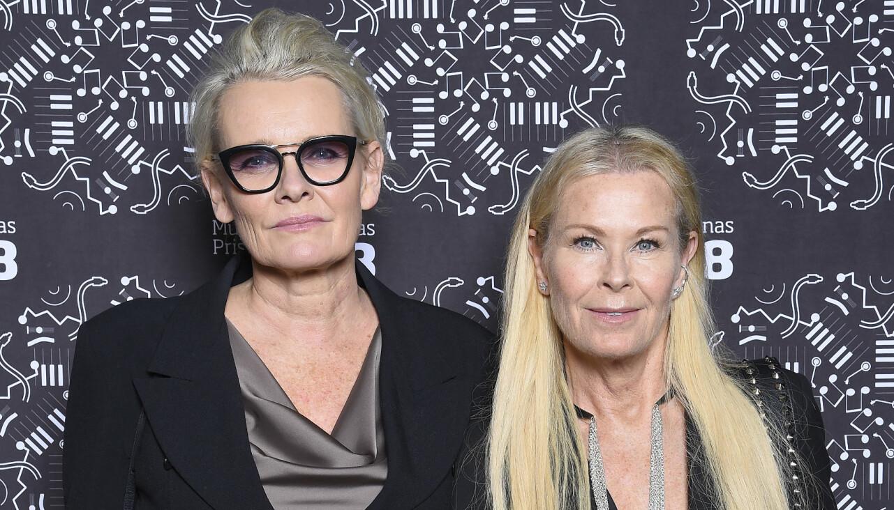 Eva Dahlgren och partnern Efva Attling.