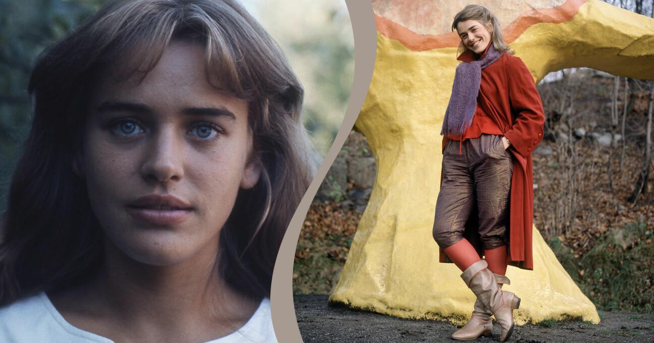 Ewa Fröling under unga år på två av de 10 bilderna som du kanske aldrig sett på skådespelaren.