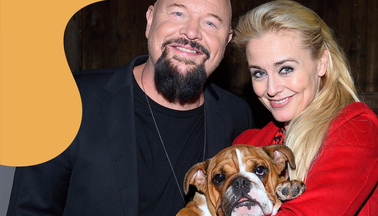 Familjen Bagge med hund.
