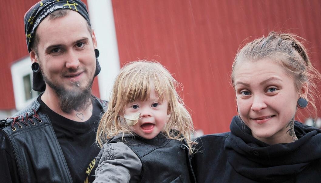 Peo och Saras dotter Sally har Downs syndrom