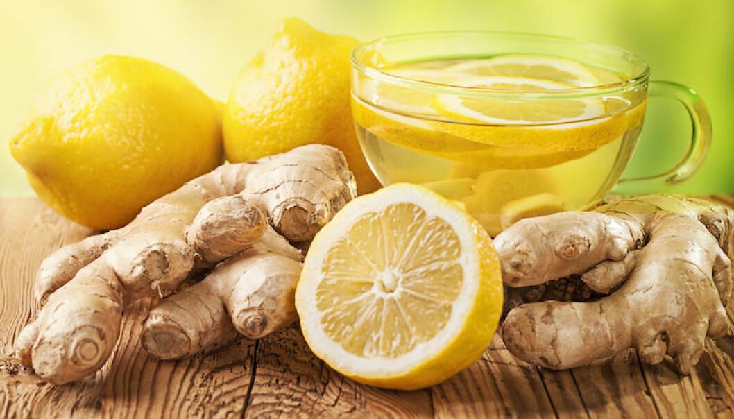Ingefära och citron.