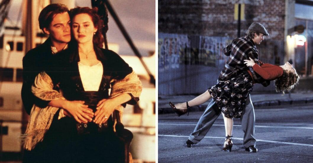 De mest romantiska ögonblicken i film och tv.