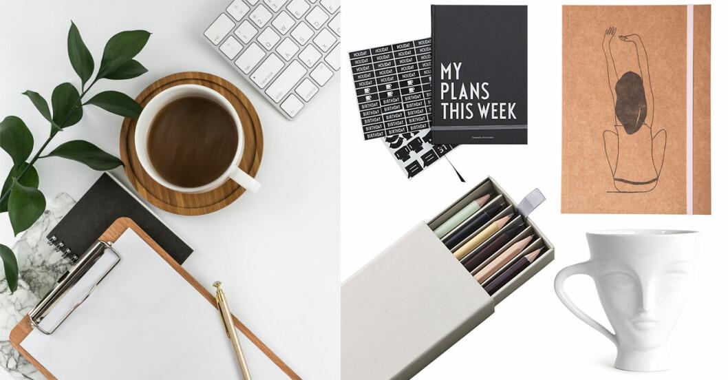 Gör om på skrivbordet med snygga och praktiskt prylar