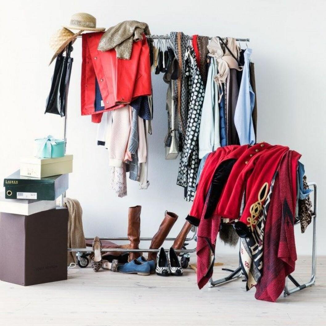 Förkläde i bomull och läder från Tareq Taylors Hemtex-kollektion.