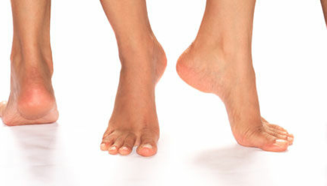 Fina och hela fötter.