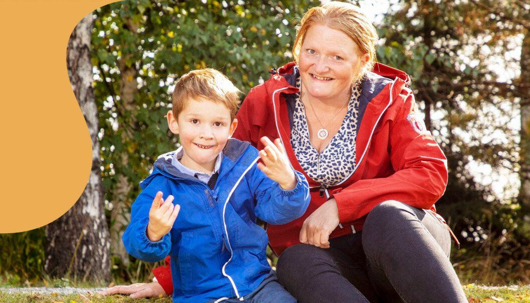 Rasmus har den sällsynta diagnosen Fragilt X-syndrom som är en genetisk effekt.