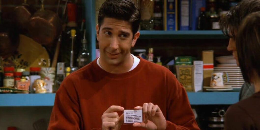 David Schwimmer som Ross Geller i Vänner.