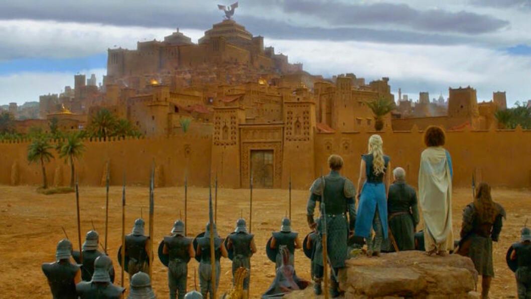 En bild på den fiktiva staden Yunkai från tv-serien Game of Thrones.