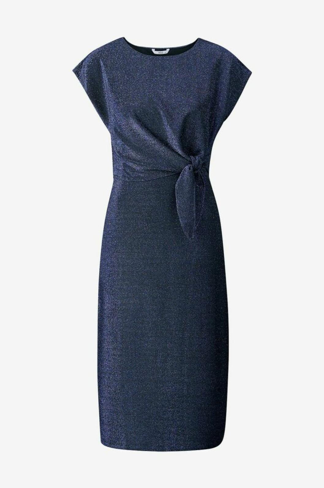 Blå midklänning med glitter