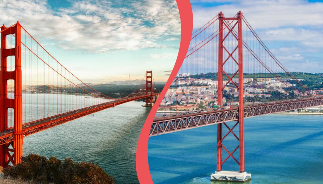 Golden Gate och 25 april-bron.