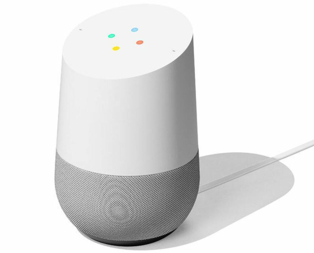 En bild på den smarta högtalaren Google Home, som lanseras den 24 oktober i Sverige.