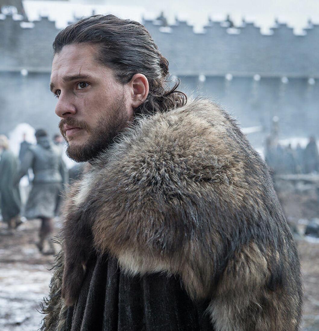 En bild på karaktären Jon Snow från tv-serien Game of Thrones.