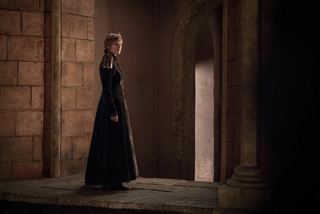 En bild på karaktären Cersei Lannister från tv-serien Game of Thrones.