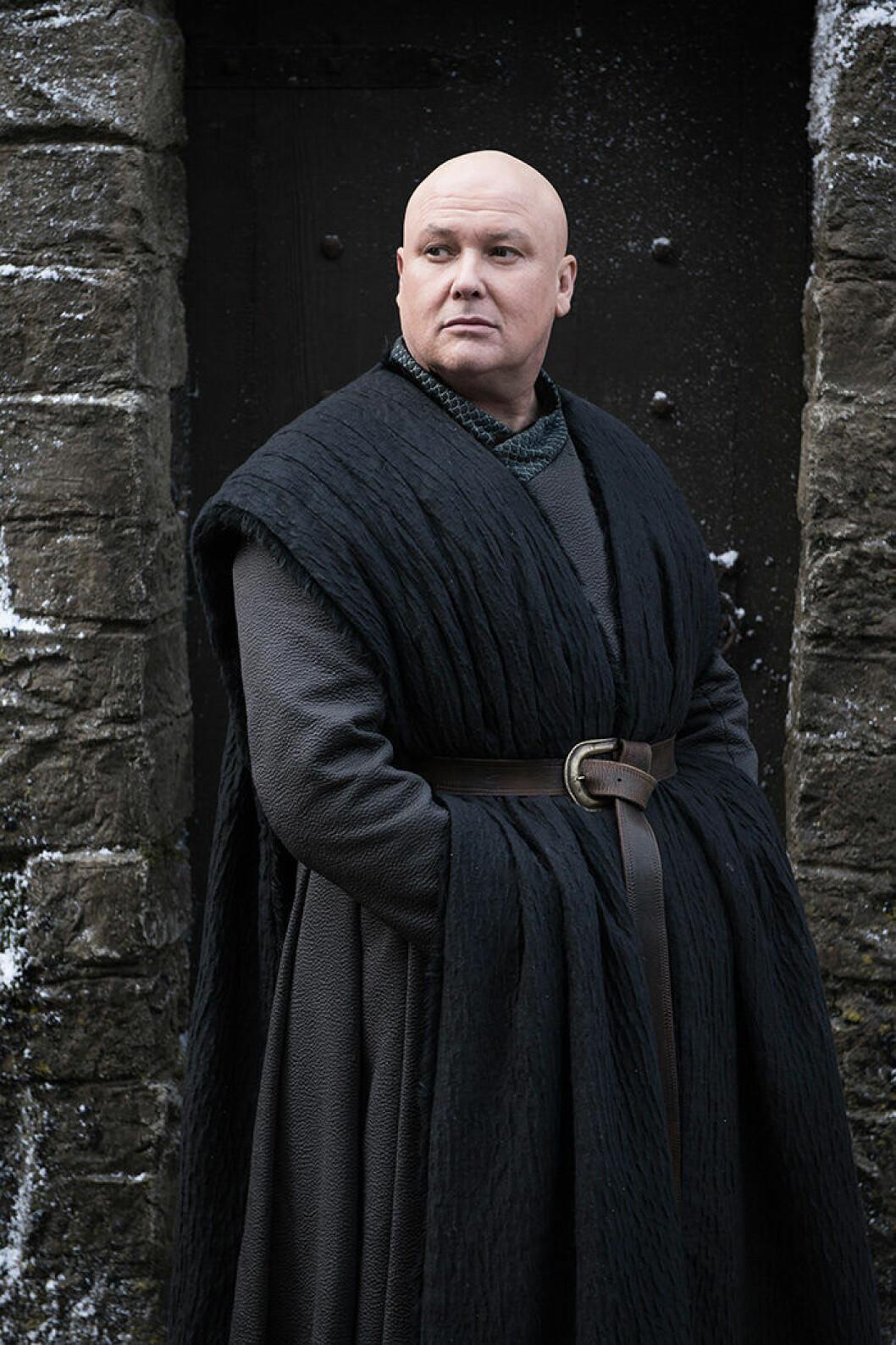 En bild på karaktären Varys från tv-serien Game of Thrones.