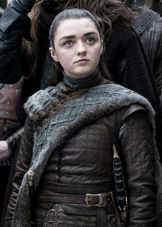 En bild på karaktären Arya Stark från tv-serien Game of Thrones.