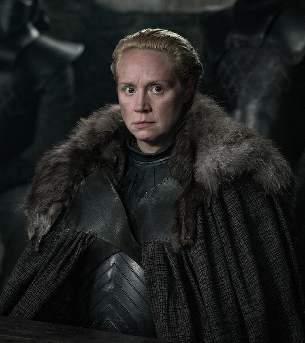 En bild på karaktären Brienne of Tarth från tv-serien Game of Thrones.
