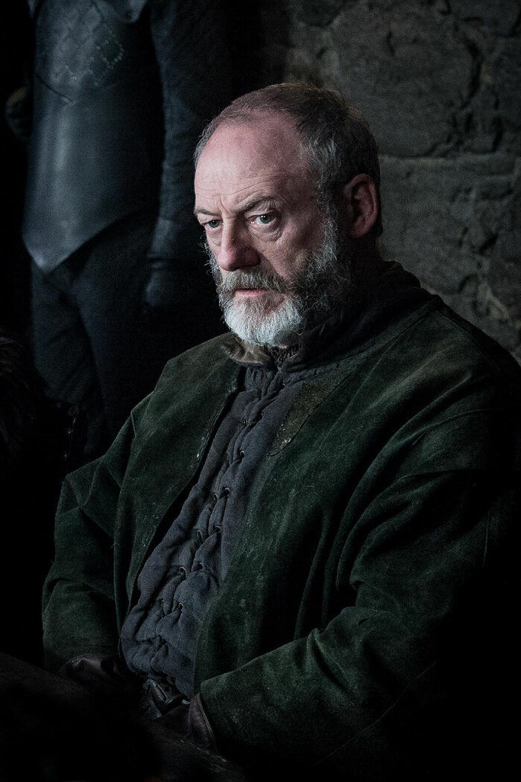 En bild på karaktären Davos Seaworth från tv-serien Game of Thrones.