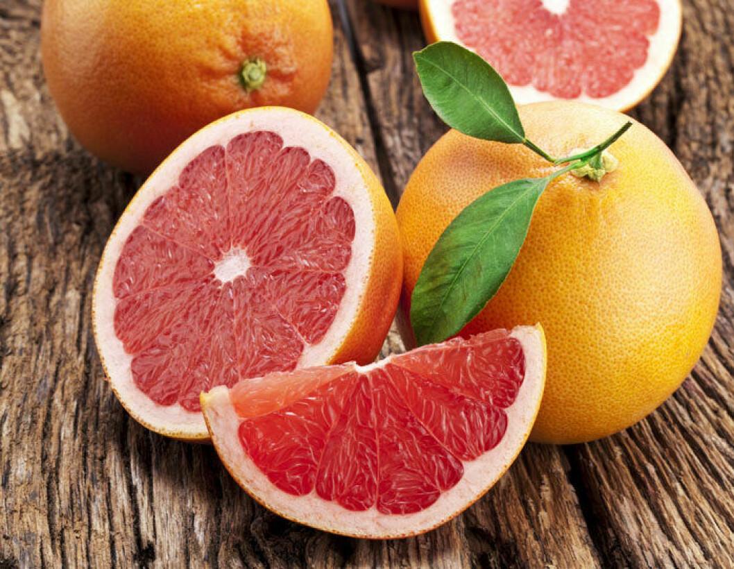 Röd grapefrukt är inte lika bitter som den blonda varianten.
