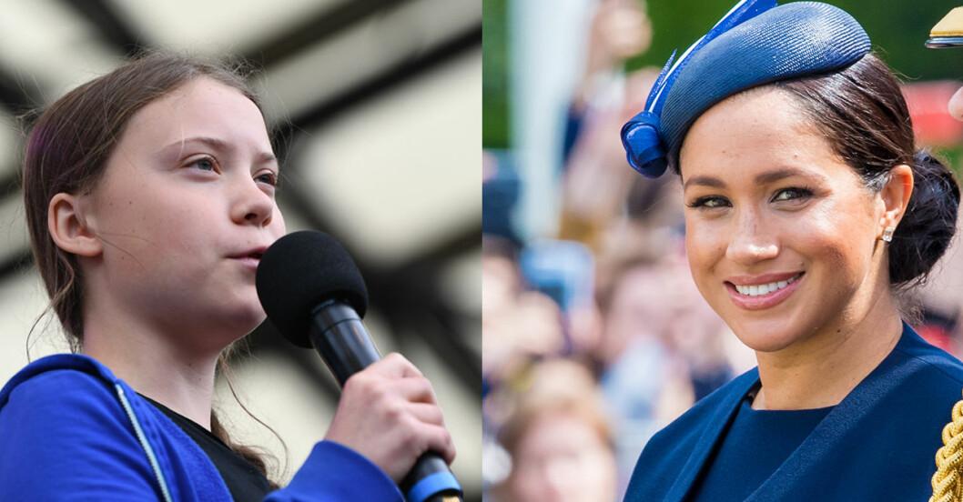 Greta Thunberg och Meghan Markle