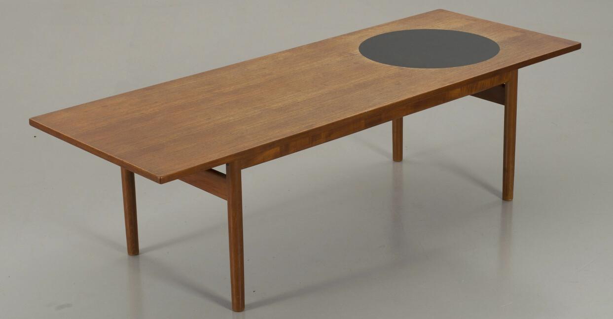 Grete Jalks soffbord i teak för Poul Jeppesen Møbelfabrik.