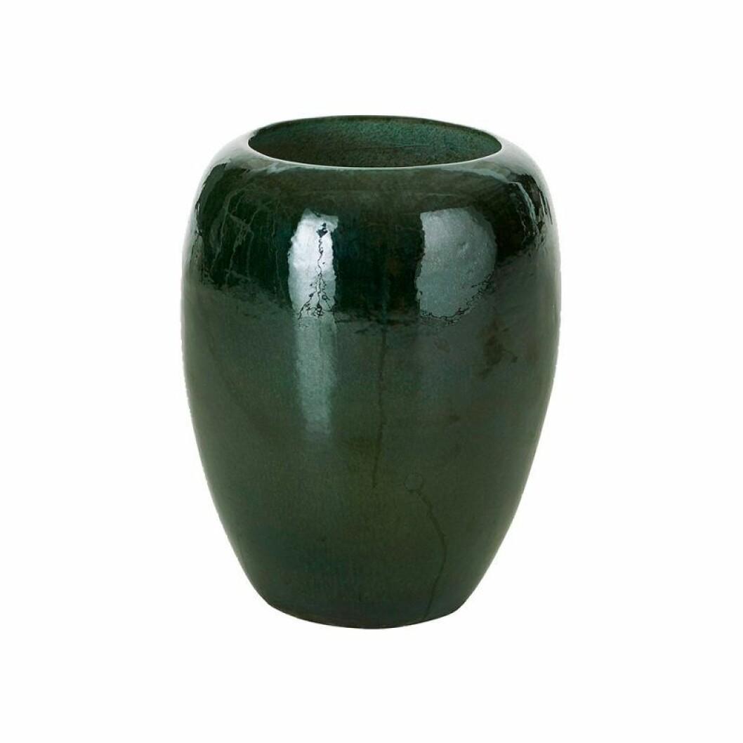 Grön hög kruka till din terass eller altan