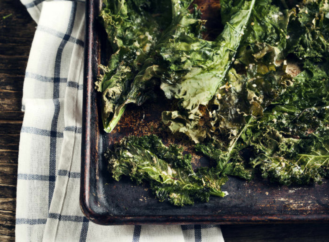 Recept krispiga grönkålschips