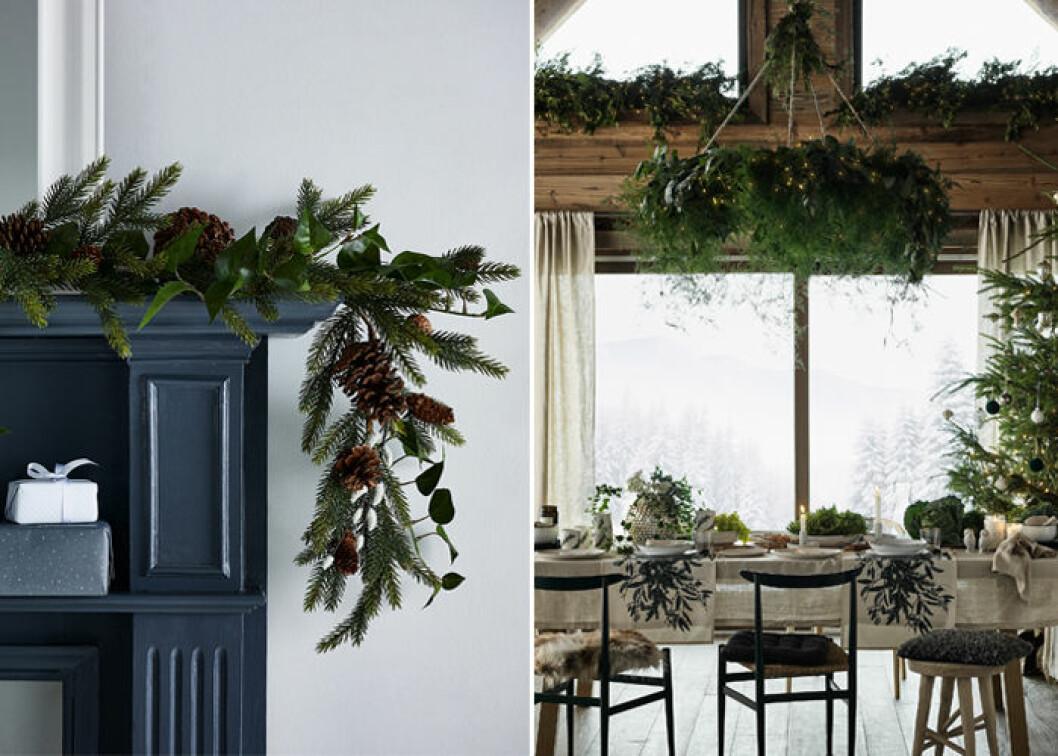 Inred med grönska i jul