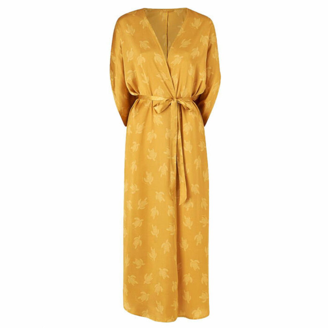 Guldig lång kimono från Ellos kollektion Staycation