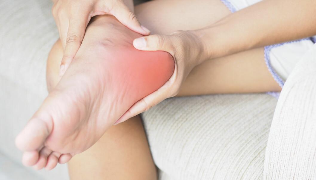 Hälsporre är en inflammation som sitter i senan under foten.