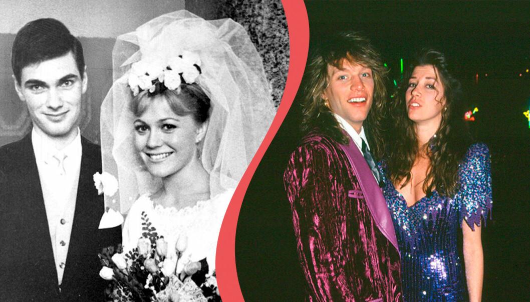 Christina Schollin och Hans Wahlgren gifte sig 1962 och är ett par än idag. Jon Bon Jovi och Dorothea Hurley träffades i gymnasiet och gifte sig 1989.