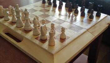 En bild på ett schackbräde.