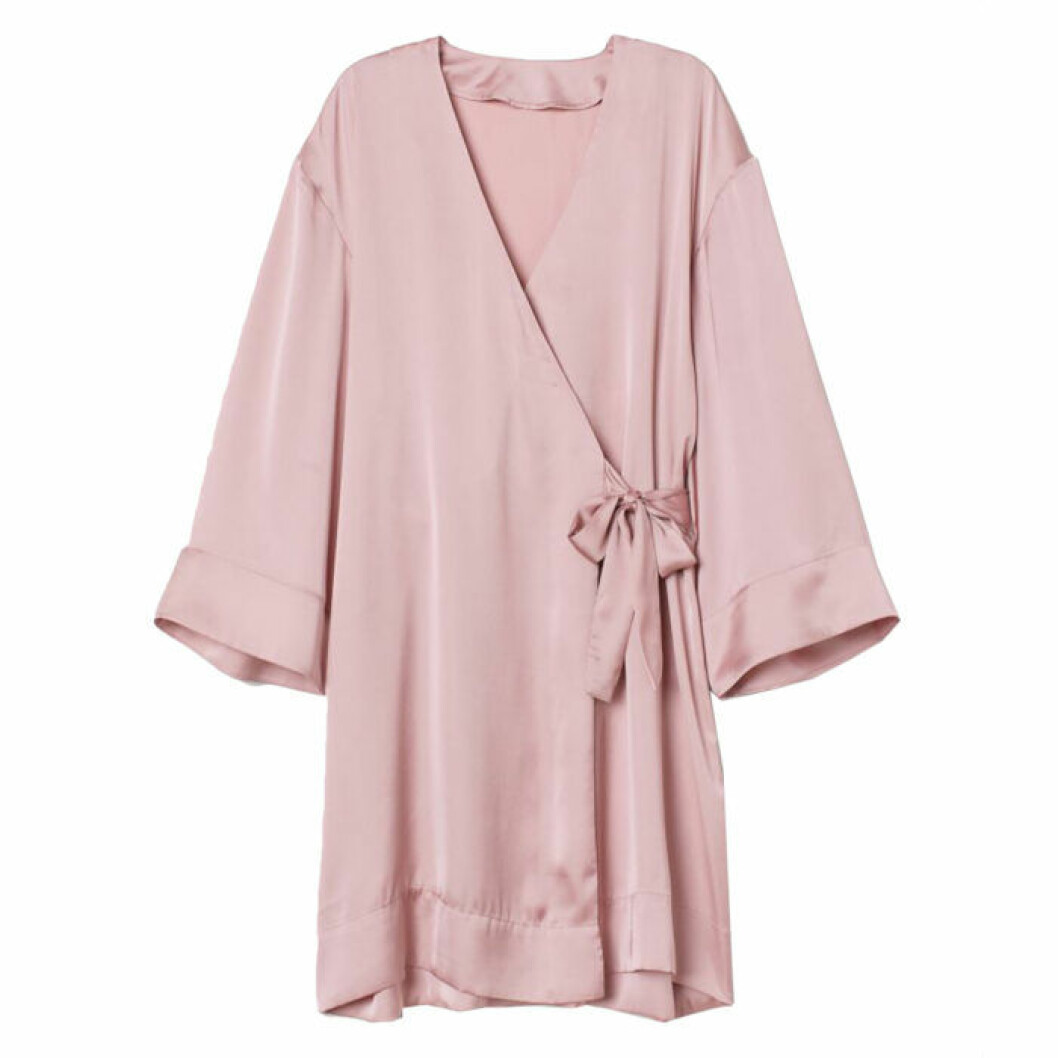 Rosa kimono i satin från h&M