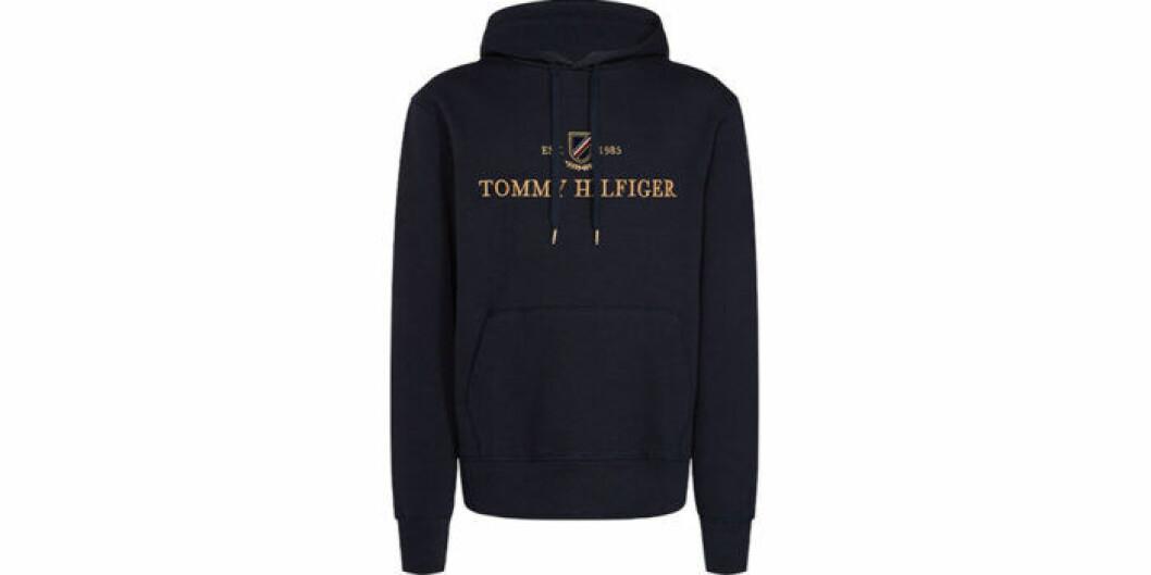 Blå hoodie från Tommy Hilfiger
