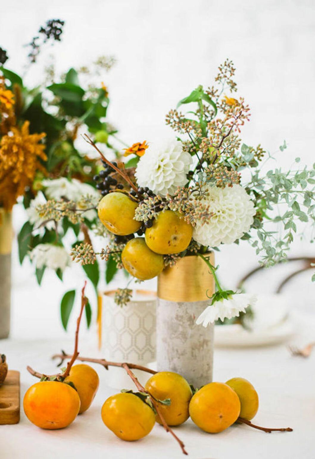 Blombukett med persimon