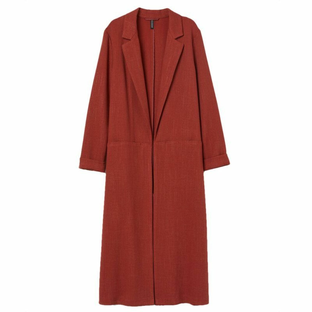 Röd lång kappa