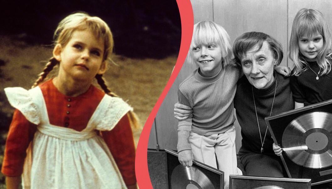 Ida i Emil i Lönneberga spelades av Lena Wisborg Candinger. Här är hon tillsammans med Astrid Lindgren och Jan Ohlsson som spelade Emil.