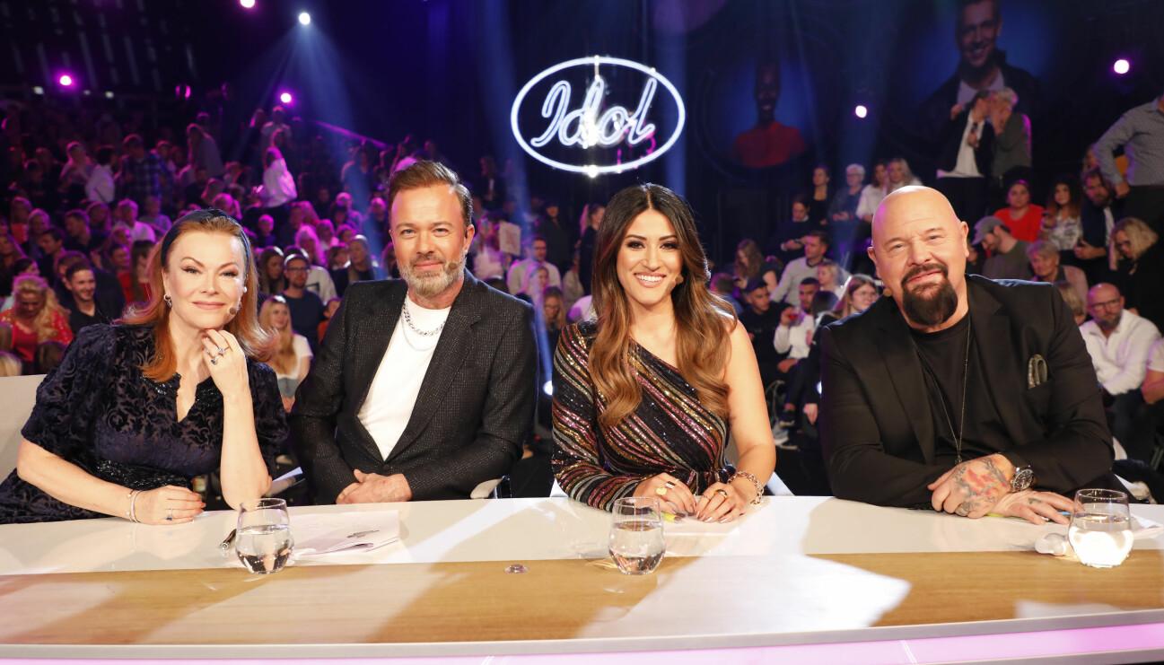 Idoljuryn 2020 bestående av Anders Bagge, Nikki Amini, Kishti Tomita och Alexander Kronlund.