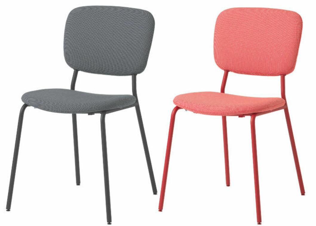 Karljan stol i grått och rött från Ikea