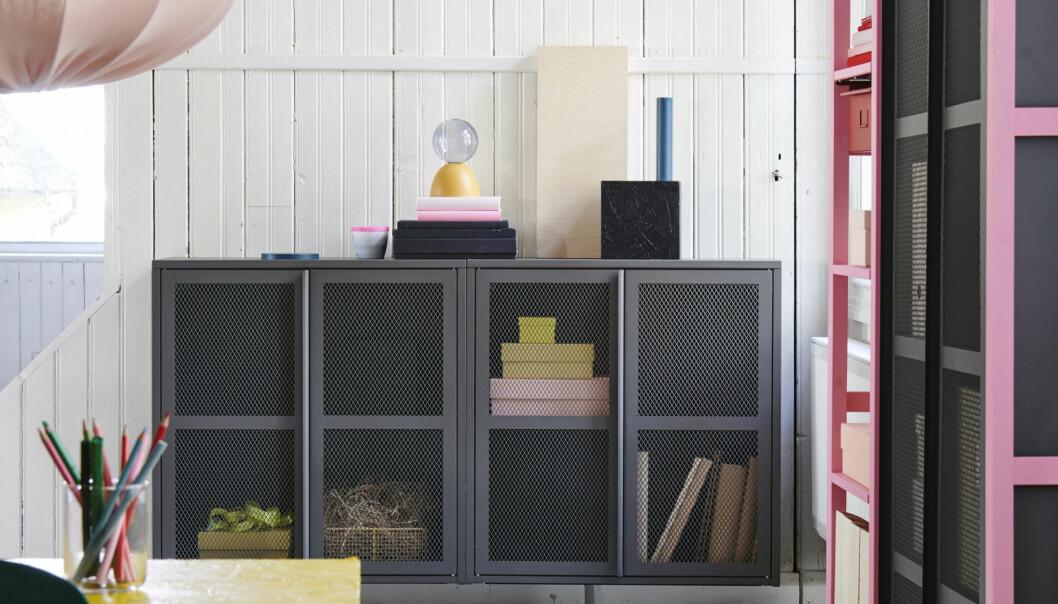 Ikea-hyllan Ivar som fått en rejäla uppfräschning genom ett fiffigt hack