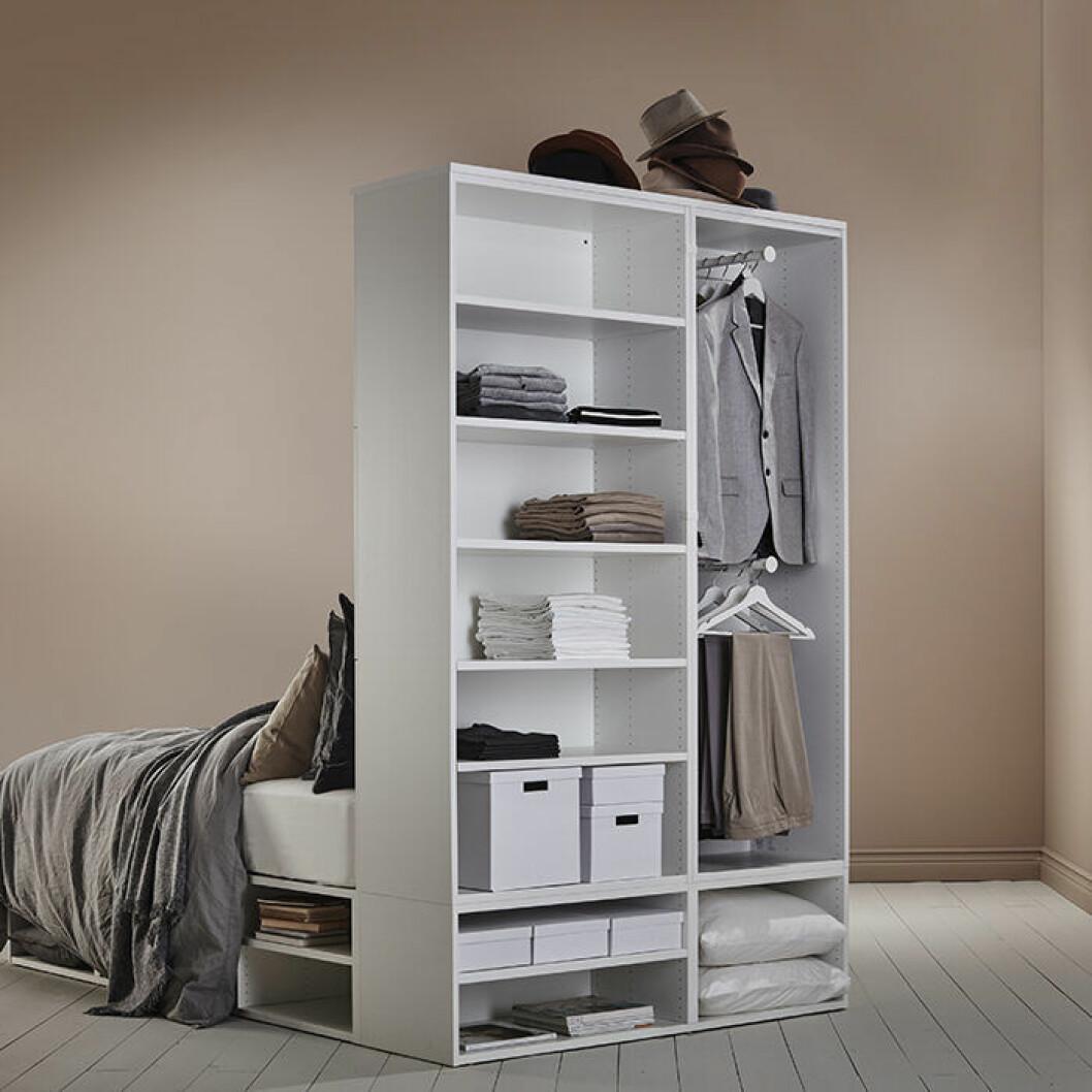 Platsa/lätthet sängstomme med förvaring