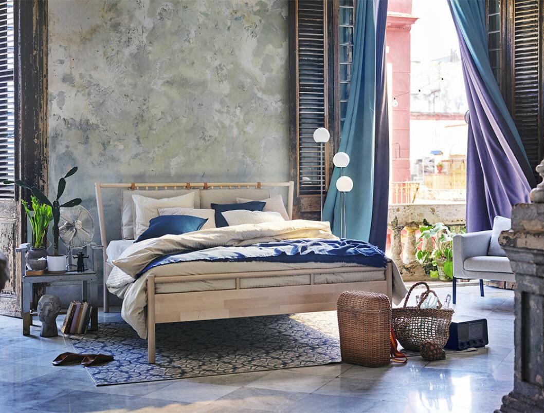 Sovrum i sommar hos Ikea