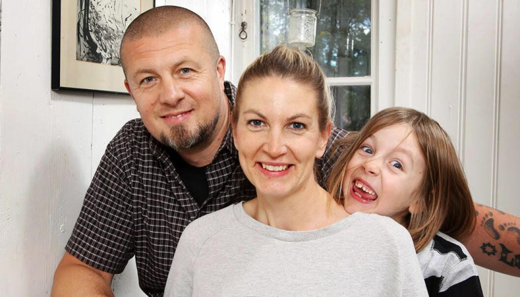 Familjen har varit ett stort stöd för Linda som blev deprimerad av nedsatt funktion i sköldkörteln.
