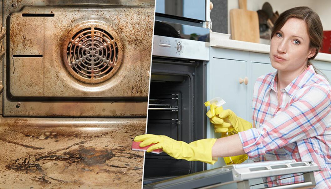 att rengöra ugnen